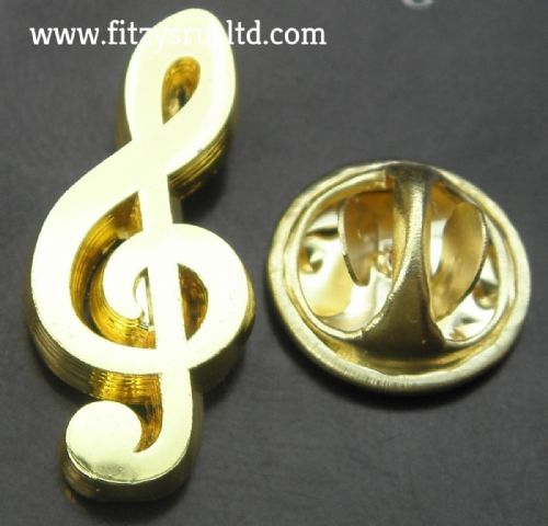 Musical Note G-clef Treble Clef Lapel Hat Cap Tie Pin Badge Musician Brooch